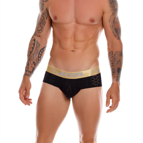 Mens Underwear - Image of JOR Underwear Charles Briefs - Sexy Perforated Pattern Mesh Style Mens Brief Underwear