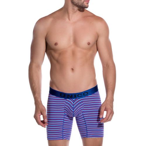 Mens Underwear - Image of Unico Mens Underwear Screen Boxer Briefs - Longer Leg Trunk Style Mens Underwear