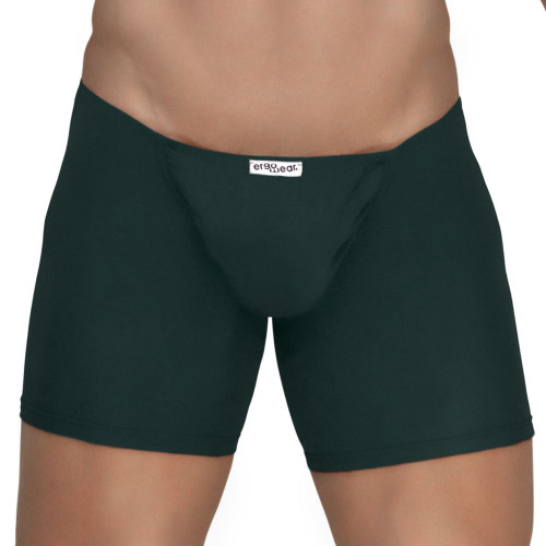 Mens Underwear - Image of Ergowear Underwear FEEL Modal Long Boxer in Pine Green - Ergonomic Pouch Boxer Brief