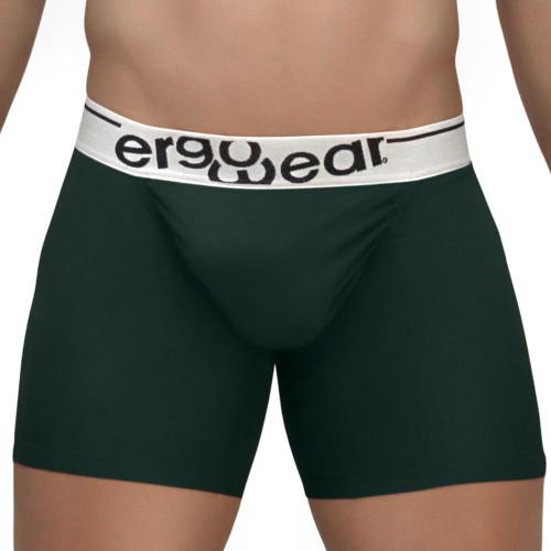 Mens Underwear - Image of Ergowear Underwear FEEL Modal Boxer Brief in Pine Green - Ergonomic Pouch Mid-cut Trunk