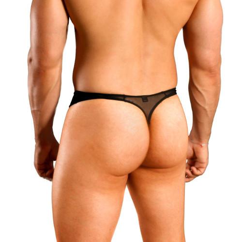 Mens Underwear - Image of Doreanse Underwear Sexy Sheer Thong in Black - See Thru Sheer Mesh Mens Thong