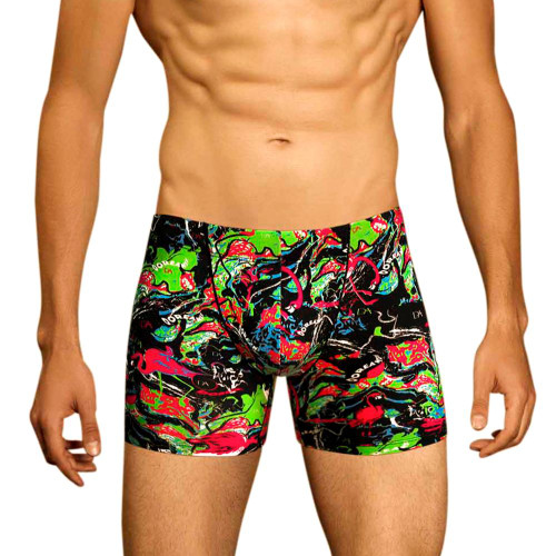 Mens Underwear - Image of Doreanse Underwear Dorian Boxer - Longer Leg Trunk Style Printed Mens Underwear