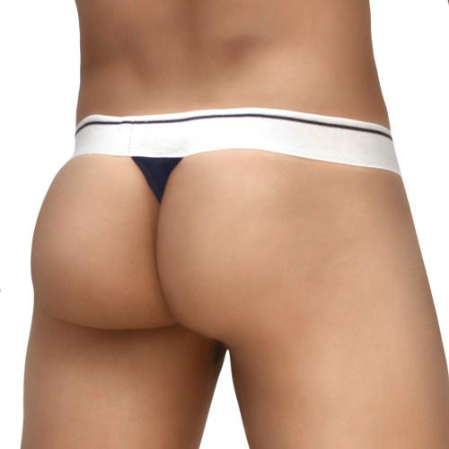 Mens Underwear - Image of Ergowear Underwear MAX Modal Thong in Peacoat Blue - Ergonomic Pouch Mens Thong