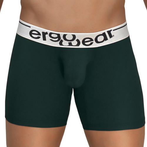 Mens Underwear - Image of Ergowear Underwear MAX Modal Boxer Briefs in Pine Green - Ergonomic Pouch Mid-cut Boxer
