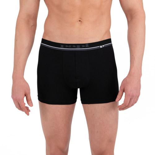 Mens Underwear - Image of Papi Underwear Solid Boxer Briefs 4 Pack in Black / Orange / Grey - Cotton Boxer Shorts