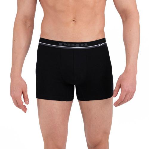 Mens Underwear - Image of Papi Underwear Solid & Stripe Boxer Briefs 4 Pack in Black / Red / Grey / Red Stripe