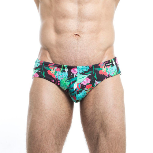 Mens Underwear - Image of Hunk² Swimwear Schlange² Reversible Swim Briefs - Innovative & Stylish Mens Swimwear