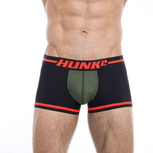 Mens Underwear - Image of Hunk² Underwear Alphae Lifteur² Trunks - Stylish & Bold Boxer Brief Style Mens Underwear