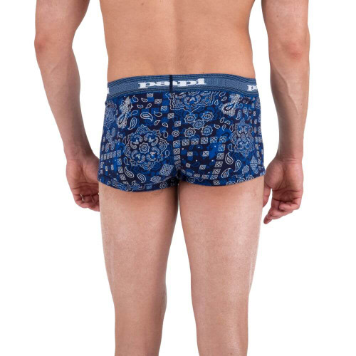 Mens Underwear - Papi Underwear Heading West Brazilian Trunks in Blue - Mens Boxer Brief Style Underwear