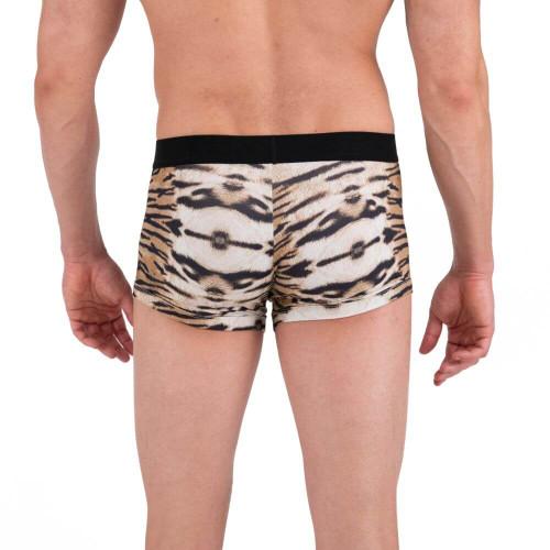 Mens Underwear - Papi Underwear Animal Instinct Tiger Trunks - Animal Inspired Mens Boxer Brief Underwear