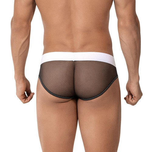 Sexy Mens Underwear - Roger Smuth Underwear Mesh Rear Briefs - Mens Underwear With See-Thru Sheer Mesh