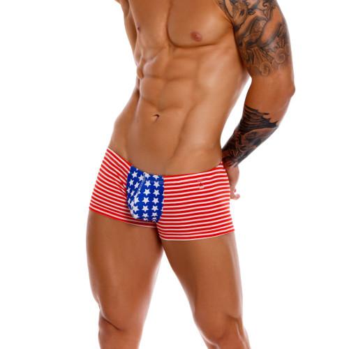 JOR Underwear USA Boxer - American Stars & Stripes Inspire Printed Mens Trunk Underwear