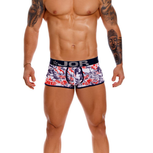 JOR Underwear James Boxer - Sophisticated and Stylish Printed Mens Trunk Style Underwear