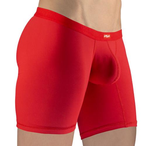 Ergowear Underwear SLK Boxer Briefs in Red - Comfortable Ergonomic Pouch Mid-cut Trunks