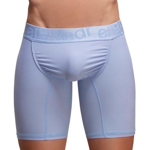 Ergowear Underwear FEEL XV Boxer Briefs in Cerulean Blue - Longer Leg Mens Pouch Trunks