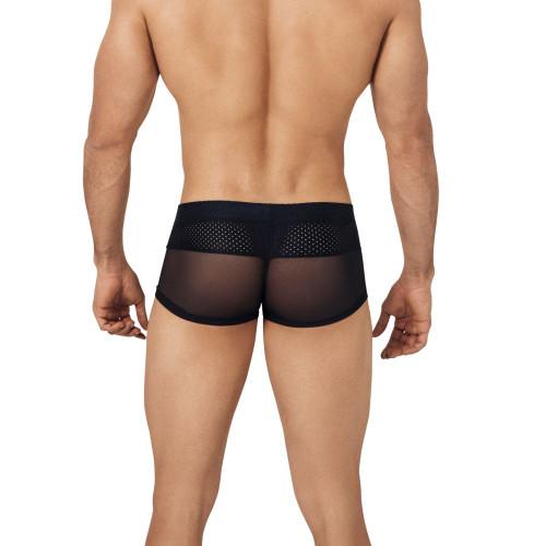 Clever Underwear Control Latin Boxer - Sexy Sheer Mesh & Sports Mesh Trunk Style Underwear