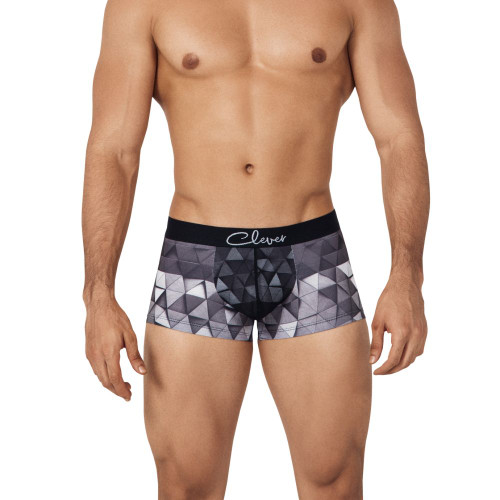 Clever Underwear Unusual Trunks - Geometric Patterned Mens Short Trunk Style Boxer Briefs