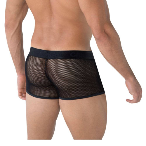 CandyMan Underwear Mesh Trunks - See Thru Sheer Mesh Boxer Brief Style Underwear