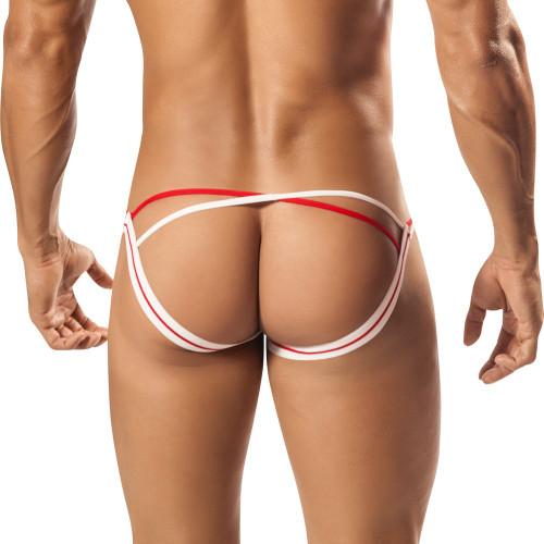 Mens Underwear - Front view of PPU Aerie Jockstrap - See Through Mesh Jock