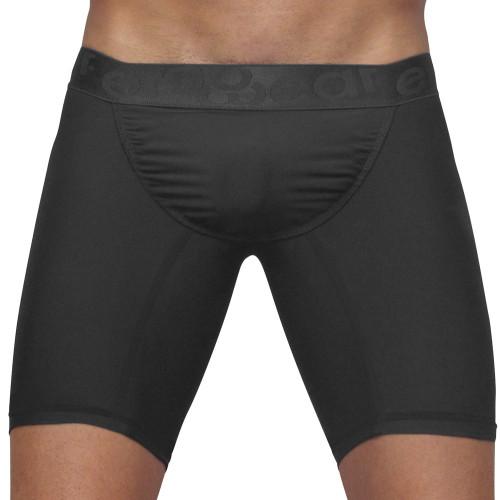 Mens Underwear - Front view of Ergowear FEEL XV Boxer Briefs - Grey