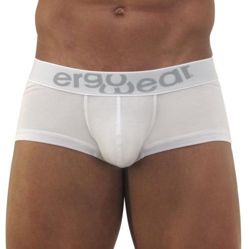 Mens Underwear - Front view of Ergowear MAX Modal Boxer - White