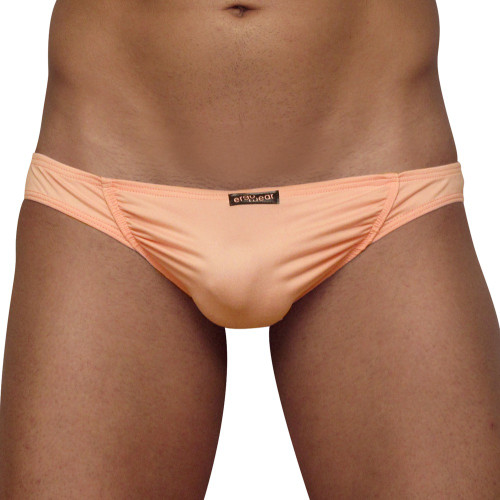 Mens Underwear - Front view of Ergowear FEEL Suave Thongs in Coral - Mens Thong Underwear