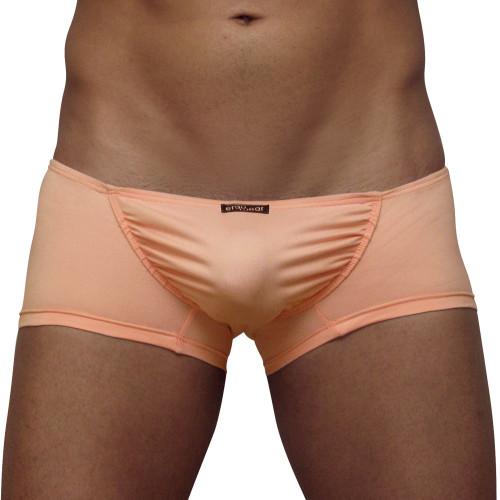 Mens Underwear - Front view of Ergowear FEEL Suave Mini Boxer - Coral