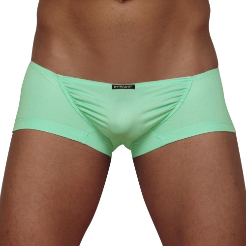 Mens Underwear - Front view of Ergowear FEEL Suave Mini Boxer - Mint Green