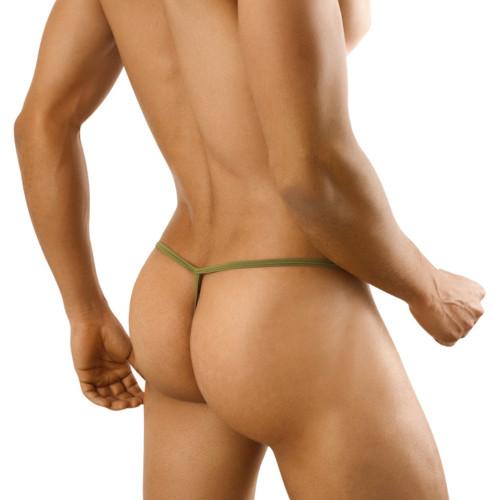 Mens Underwear - Front view of CandyMan Slim Men's G-string Thong - Mens Thong