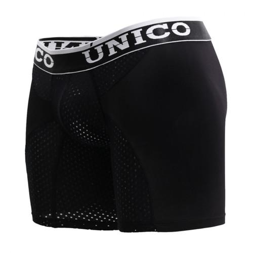 Mens Underwear - Front view of Unico Boxer Briefs Enlight Black