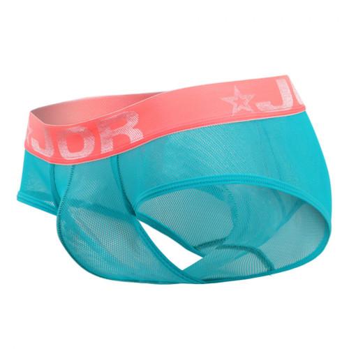 Mens Underwear - Front view of JOR River Bikini - Sheer Mesh Brief