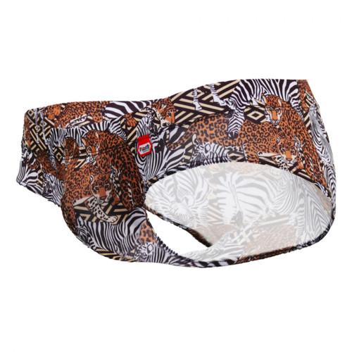 Mens Underwear - Front view of Pikante Clay Anatomic Briefs - Men's Underwear