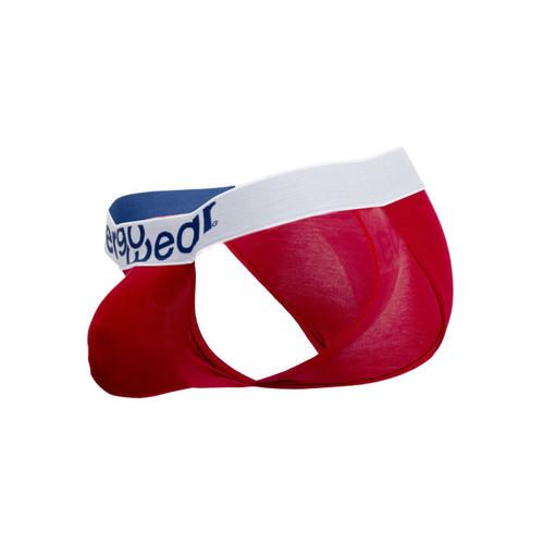 Mens Underwear - Front view of Ergowear MAX Modal Bikini - Scarlet