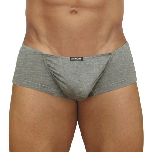 Mens Underwear - Front view of Ergowear FEEL Modal Mini Boxer - Smoke Grey