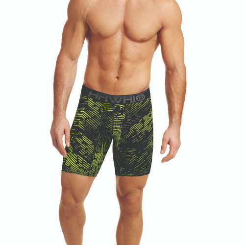 Mens Underwear - Front view of HAWAI Abstract Angles Long Boxer Briefs