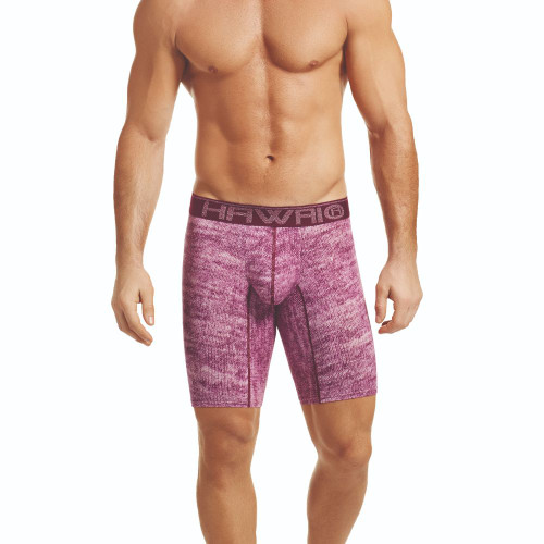 Mens Underwear - Front view of HAWAI Static Long Boxer Briefs