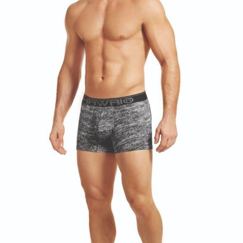 Mens Underwear - Front view of HAWAI Static Print Boxer Briefs - Mens Undies