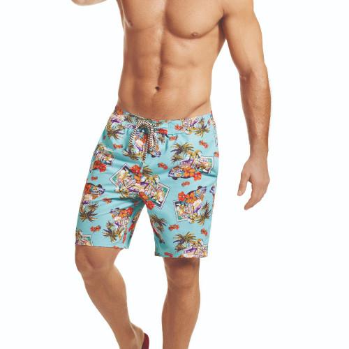 Mens Underwear - Front view of HAWAI Cuba Board Shorts - Swimwear