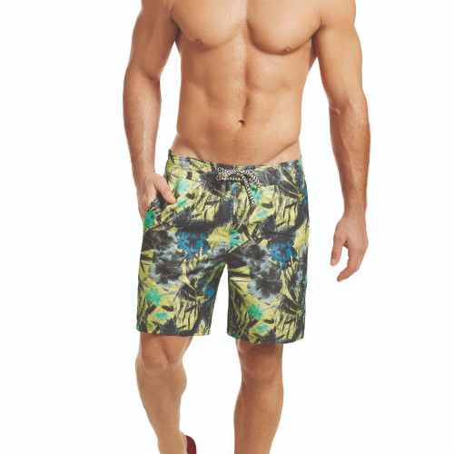 Mens Underwear - Front view of HAWAI Floral Board Shorts