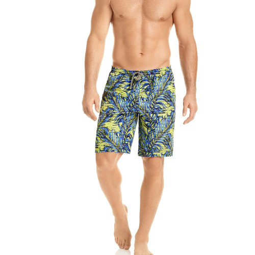 Mens Underwear - Front view of HAWAI Palm Board Short Style Swim Trunks
