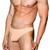 Mens Underwear - Front view of Doreanse Hang-loose Thong in Tan - Male Thong Underwear