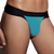 Mens Underwear - Front view of Doreanse Warrior Thong in Blue / Black - Mens Thong Underwear