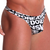Mens Underwear - Front view of Doreanse Big Logo Thong - Printed Male Thong