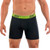 Mens Underwear - Front view of Undertech Sports Mesh Boxer Briefs 2 Pack - Black / Green