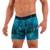 Mens Underwear - Front view of  Mens Underwear - Front view of Undertech Sports Mesh Boxer Briefs 2 Pack - Blue Jewel / Platinum