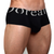Mens Underwear - Front view of Doreanse Black Pouch Mini Trunk - Naturally Enhancing Mens Underwear
