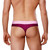 Male Thongs - Doreanse Underwear Window Thong in Purple - Male Thong With Cut Out Section & Mesh Panels