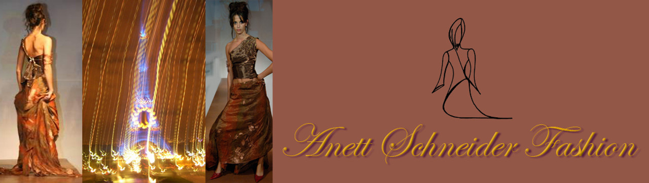 Logo and Model with long dress