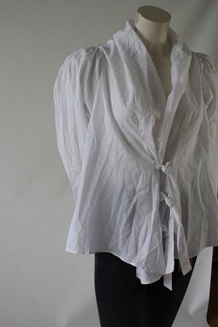 Crisp, white Cotton Shirt. Front
