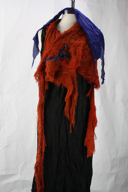 red organic silk
